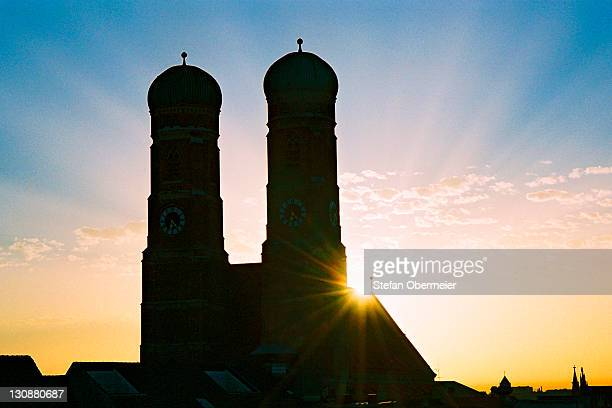 Munich, Church of our Lady at sunrise