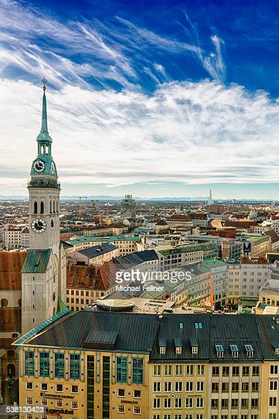 Munich cityscape with St. Peter