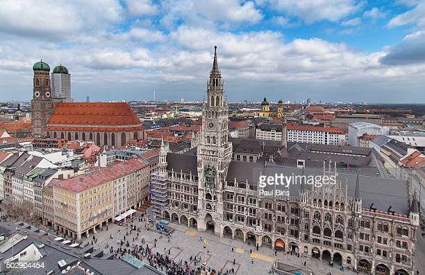 munich cityview, germany - new town hall munich stock pictures, royalty-free photos & images