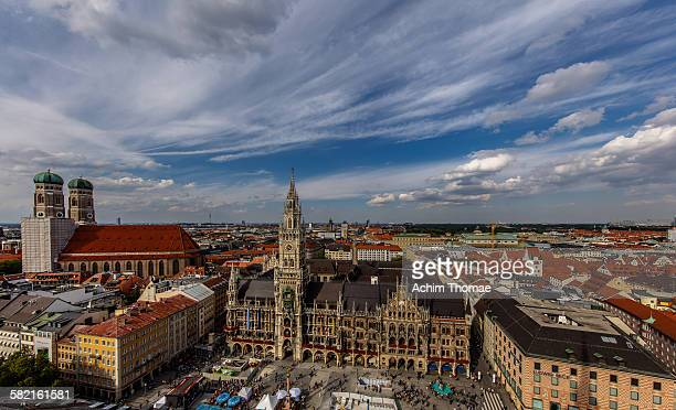 munich cityview - new town hall munich stock pictures, royalty-free photos & images