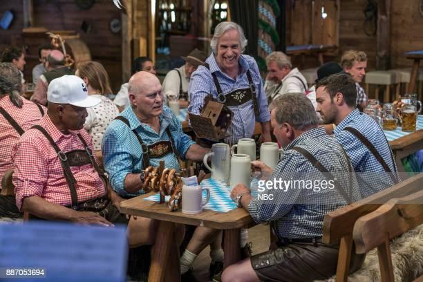 NEVER 'Munich' Episode 201 Pictured George Foreman Terry Bradshaw Henry Winkler William Shatner Jeff Dye