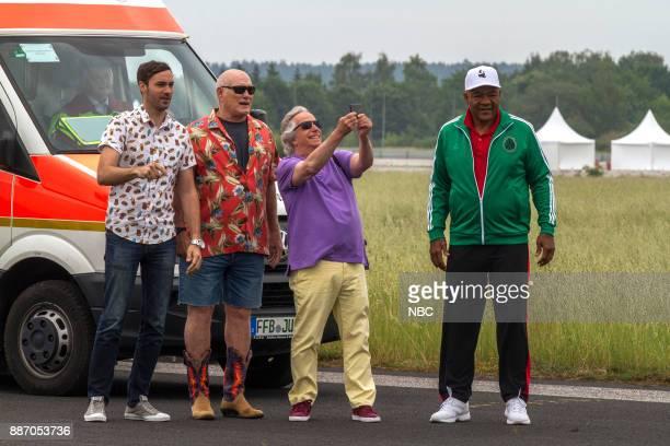 NEVER 'Munich' Episode 201 Pictured Jeff Dye Terry Bradshaw Henry Winkler George Foreman