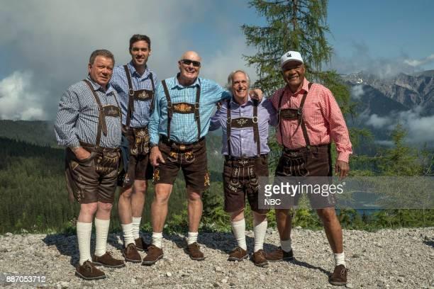 NEVER 'Munich' Episode 201 Pictured William Shatner Jeff Dye Terry Bradshaw Henry Winkler George Foreman