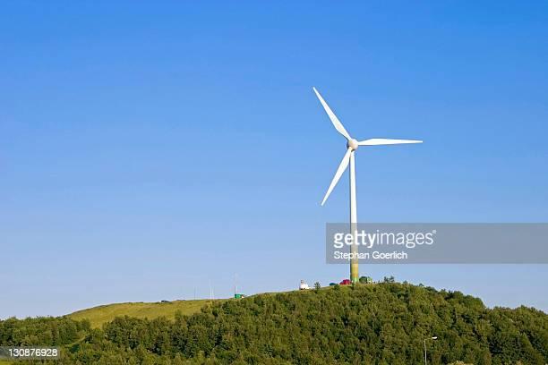 munich, ger, 14.june 2006 - wind mill in munich. - klimaschutz stock-fotos und bilder