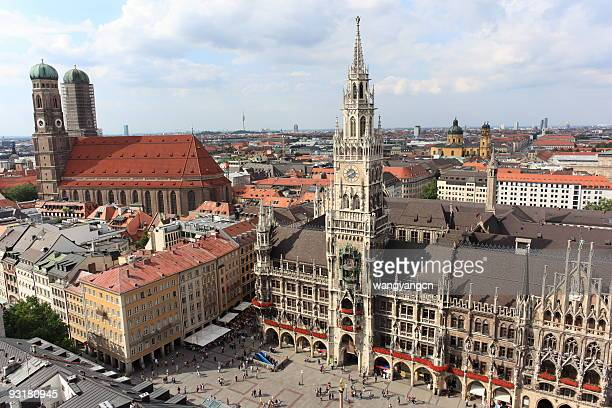 munich, germany - new town hall munich stock pictures, royalty-free photos & images