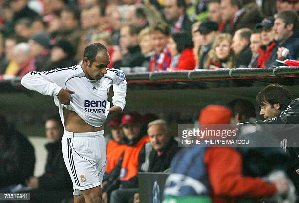 Real Madrid's Brazilian midfielder Emerson leaves the pitch during their Champions League football match against Bayern Munich at the Allianz Arena...