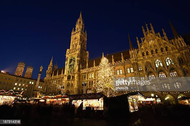 Munich Marienplatz castle at night