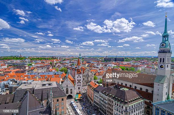 Munich Skyline and Alps