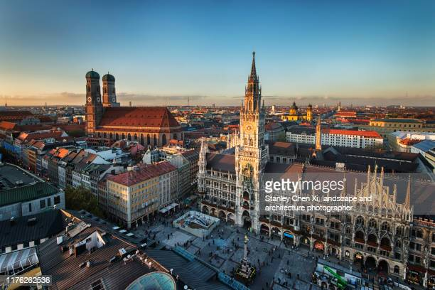 munich skyline - munich stock pictures, royalty-free photos & images