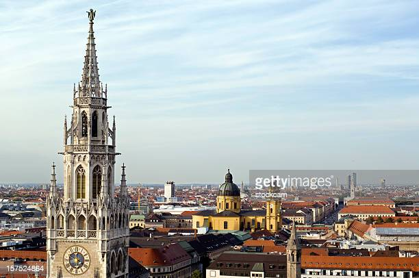 munich skyline with town hall, germany - new town hall munich stock pictures, royalty-free photos & images