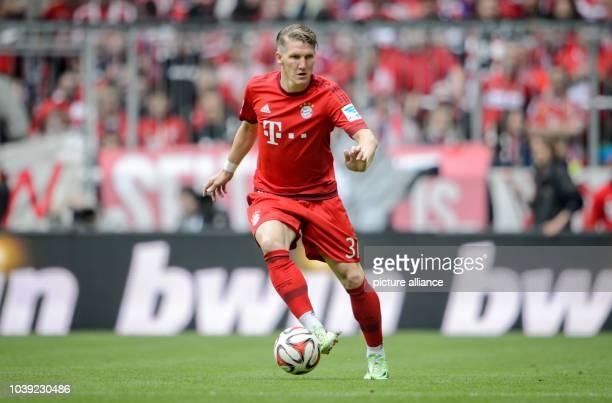 Munich's Bastian Schweinsteiger in action at the German Bundesliga soccer match between FCBayern Munich and FSV Mainz 05 in the AllianzArena in...