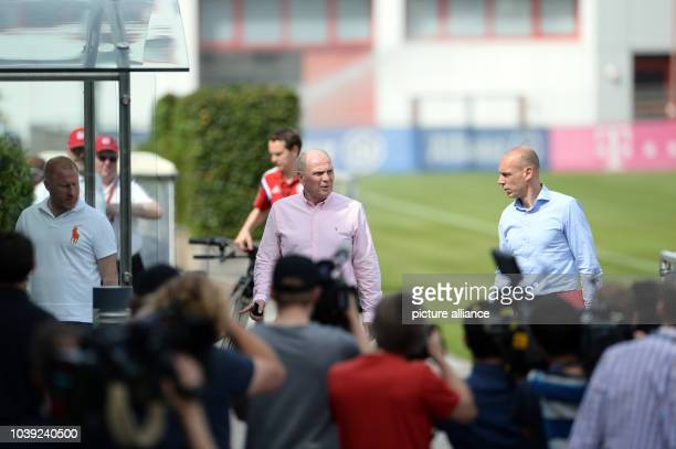 Munich's former general manager Ulrich Hoeness  arrives to a training session of German soccer club FC Bayern Munich at Allianz Arena in Munich...