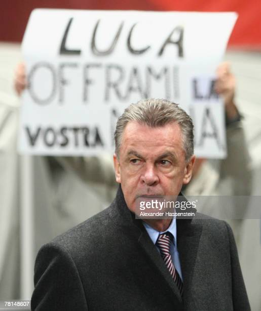 Munichs head coach Ottmar Hitzfeld looks on during the UEFA Cup Group F match between SC Braga and FC Bayern Munich at the Estadio AXA on November 29...