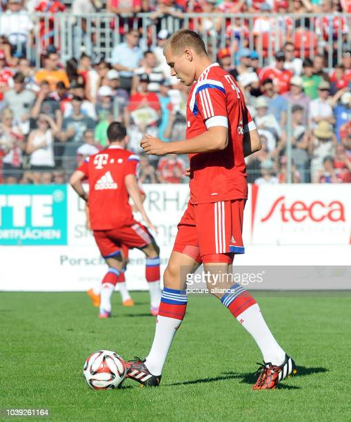 Munich's Holger Badstuber during the tryout match between FC Bayern Munich and an Allgau selection in Memmingen Germany 18 July 2014 Photo Stefan...