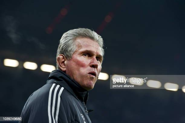 Munich's Munich's head coach Jupp Heynckes is seen before the Champions League round of 16 second leg soccer match between FC Bayern Munich and...