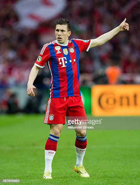 BERLIN GERMANY MAY Munich's PierreEmile Hoejbjerg during the DFB Cup Final between Borussia Dortmund and Bayern Muenchen at Olympiastadion on May 17...