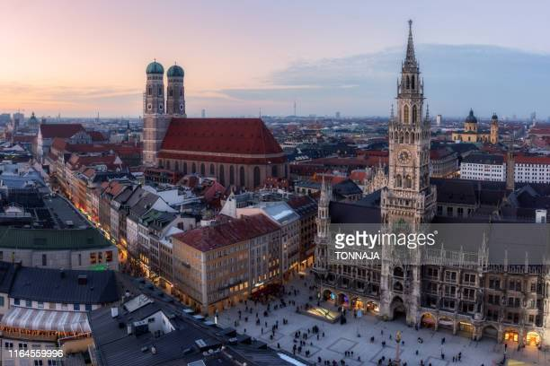 munich's skyline - munich stock pictures, royalty-free photos & images