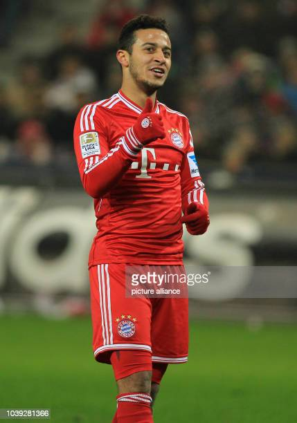 Munich's Thiago reacts during the tryout between Red Bull Salzburg and FC Bayern Munich in the Red Bull Arena in Salzburg Austria 18 January 2014...