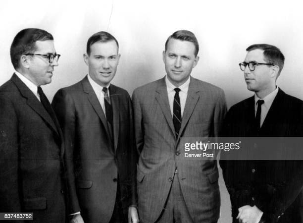 Municipal Bond Week Observed Shown here left to right are Thomas P Owen of Francis I du Pont co chairman of the IBA Rocky Mountain Group J William...