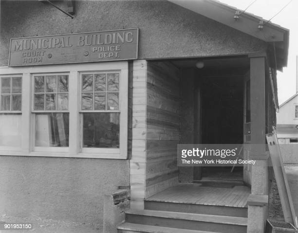 Municipal Building Police Station Court Room exterior view of entrance Lindenhurst New York 1929