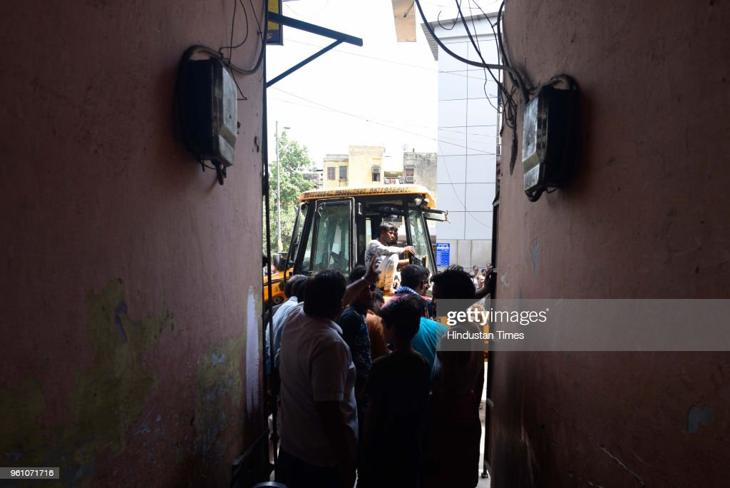 Anti-encroachment Drive By Municipal Bodies In Delhi