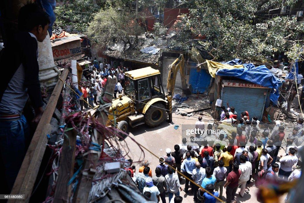 Anti-Encroachment Drive In Delhi Municipal Bodies