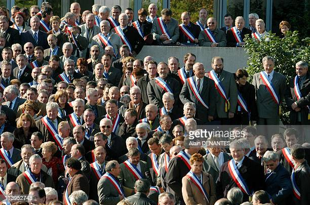 Municipal election illustration In Nantes France On February 21 2008Illustration mayors and municipal elections gathering of mayors on their tricolor...