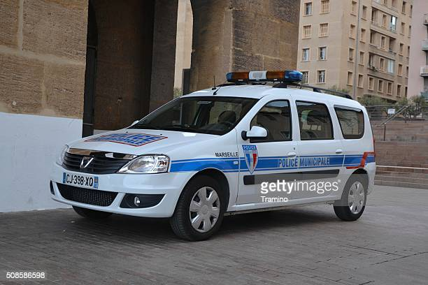Municipal Police car on the street