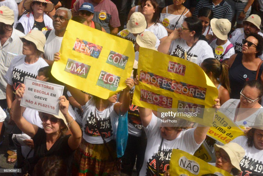 Teachers protest in Sao Paulo