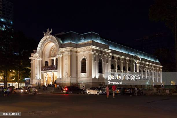 municipal theatre of ho chi minh city - ho chi minh city stock pictures, royalty-free photos & images