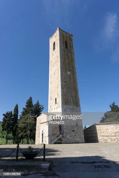 Municipal Tower XIII century San Severino Marche Marche Italy Europe