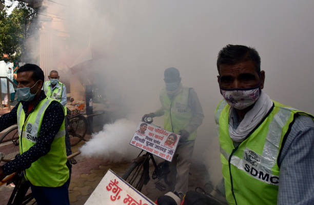 IND: Municipal Workers Fumigates In Chirag Dilli