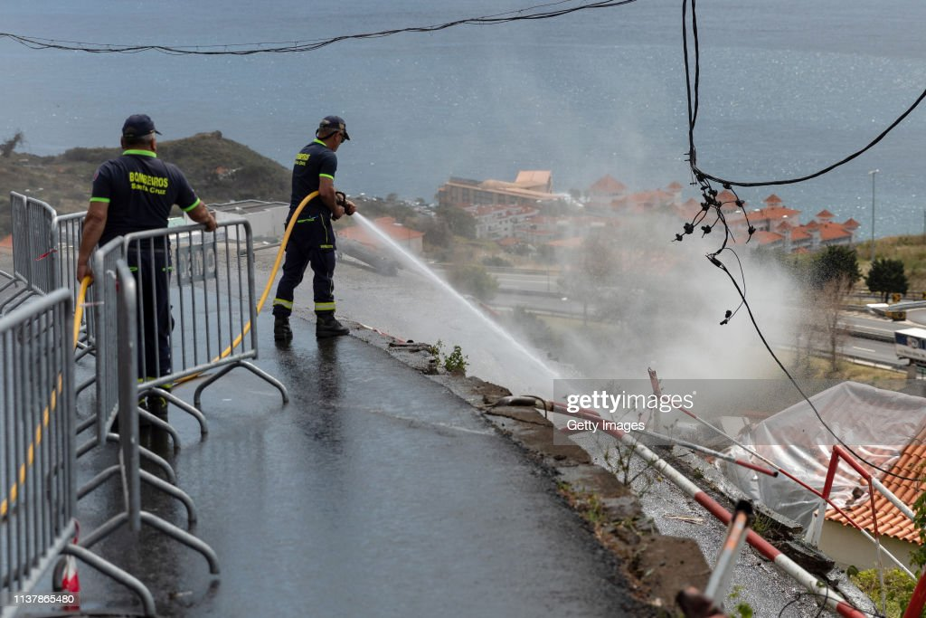 German Tourists Are Killed In Madeira Coach Crash : News Photo