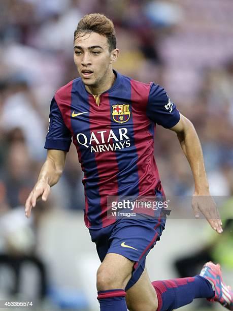 Munir El Haddadi of FC Barcelona during the friendly match between Napoli and FC Barcelona at Stade de Geneve on august 6 2014 in Geneva Switzerland