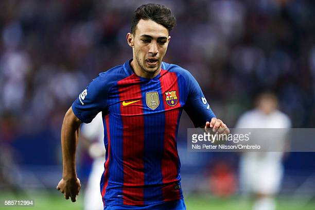 Munir El Haddadi of FC Barcelona during the International Champions Cup match between Leicester City FC and FC Barcelona at Friends arena on August 3...