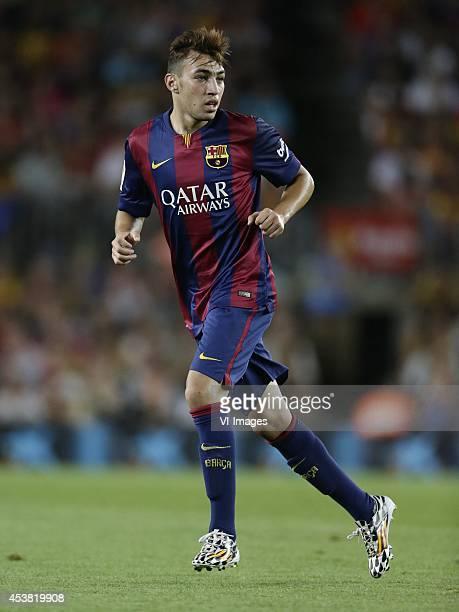 Munir El Haddadi of FC Barcelona during the Joan Gamper Trophy match between FC Barcelona and Leon FC at Camp Nou on august 18 2014 in Barcelona Spain