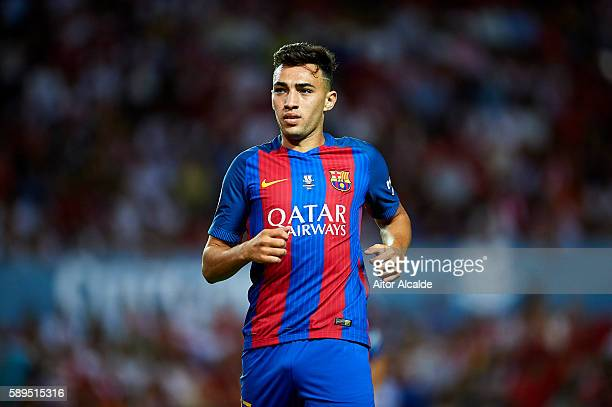 Munir El Haddadi of FC Barcelona looks on during the match between Sevilla FC vs FC Barcelona as part of the Spanish Super Cup Final 1st Leg at...