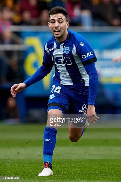 Munir of Deportivo Alaves runs of Deportivo Alavesduring the La Liga match between Villarreal CF and Deportivo Alaves at Estadio de la Ceramica on...