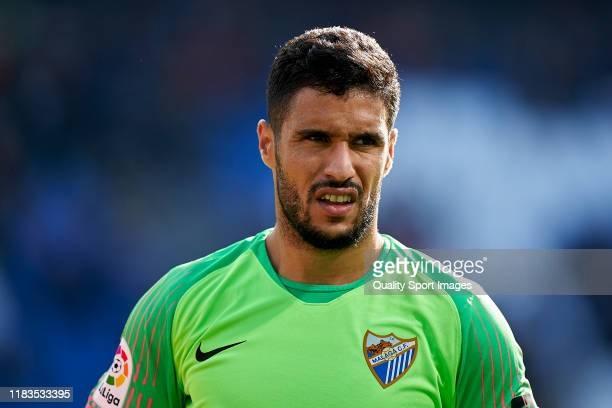 Munir of Malaga CF looks on prior to the La Liga Smartbank match between Deportivo de La Coruna and Malaga CF at Abanca Riazor Stadium on October 20...