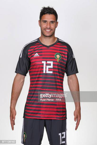 Munir of Morocco poses during the official FIFA World Cup 2018 portrait session on June 10 2018 in Voronezh Russia