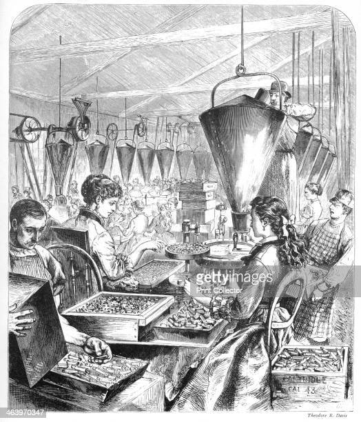 'Munitions Factory Bridgeport Connecticut' c1870s Machines speeded up production after the Civil War Illustration from Adventures of America 18571900...