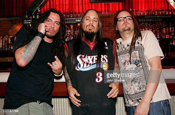 Munky Fieldy and Jonathan Davis of Korn during KORN 'Twisted Transistor' Video Shoot featuring Snoop Dogg Lil Jon Xzibit and David Banner in Los...