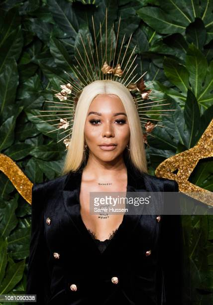 Munroe Bergdorf arrives at The Fashion Awards 2018 In Partnership With Swarovski at Royal Albert Hall on December 10 2018 in London England