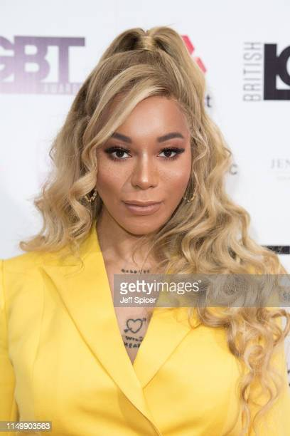 Munroe Bergdorf attends British LGBT Awards 2019 at Marriott Hotel Grosvenor Square on May 17 2019 in London England