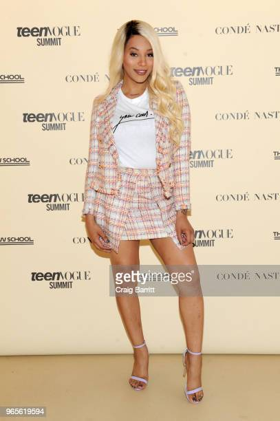 Munroe Bergdorf attends Teen Vogue Summit 2018: #TurnUp - Day 1 at The New School on June 1, 2018 in New York City.