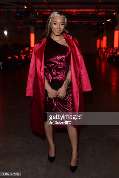 Munroe Bergdorf attends the Art School show during London Fashion Week Men's January 2020 at the BFC Show Space on January 05 2020 in London England