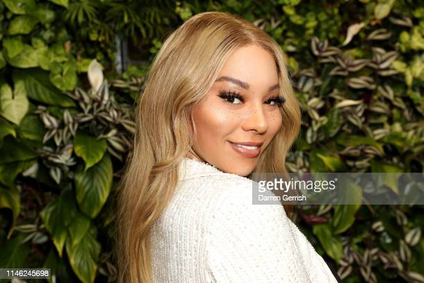 Munroe Bergdorf attends the BFC/Vogue Designer Fashion Fund announcement lunch on May 01 2019 in London United Kingdom