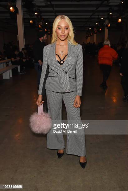 Munroe Bergdorf attends the Fashion East show during London Fashion Week Men's January 2019 at the BFC Show Space on January 6 2019 in London England