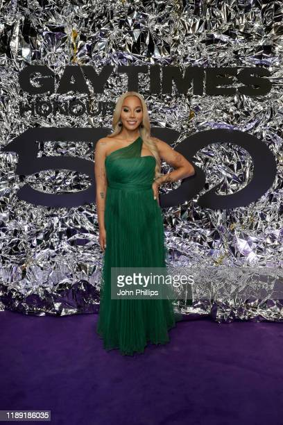 Munroe Bergdorf attends the GAY TIMES Honours 500 at Magazine London on November 21 2019 in London England