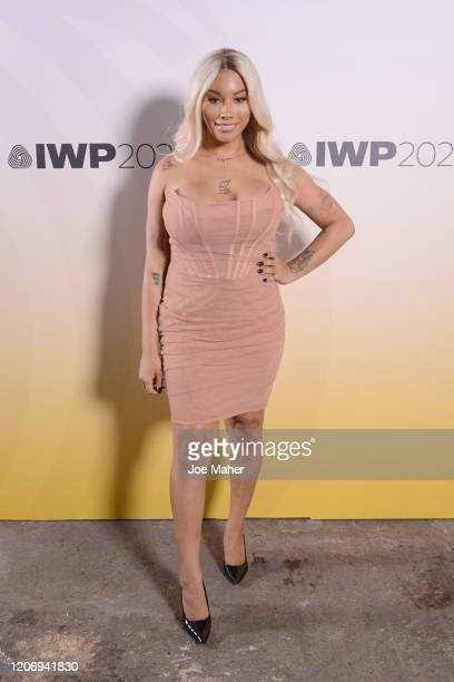 Munroe Bergdorf attends the International Woolmark Prize 2020 during London Fashion Week February 2020 at Ambika P3 on February 17, 2020 in London,...